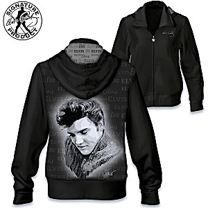 """Tender Moment"" Women's Hoodie With Elvis Presley Portrait"