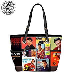 """Elvis Chart Toppers"" Album Art Tote Bag"