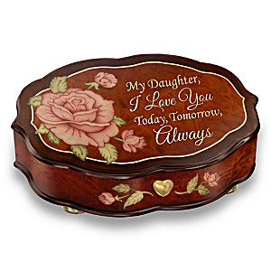 """Love You Always"" Wooden Music Box For Daughters"
