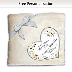 Plush Blanket Personalized With Your Friend's Name