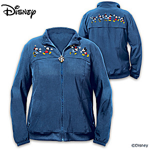 """Mickey Mouse & Minnie Mouse Happiest Together"" Women's Nylon Jacket"