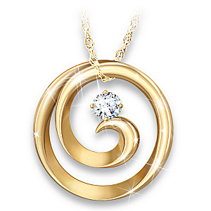 Maya Angelou-Inspired 18K-Gold Plated Spiral Pendant