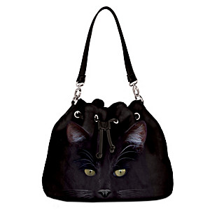 """MystiCool Cat"" Women's Cat-Themed Fleece Handbag"