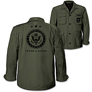 U.S. Army Men's Olive Lightweight Twill Field Jacket