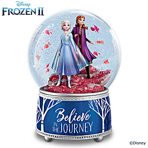 "Disney FROZEN 2 ""Believe In The Journey"" Glitter Globe"