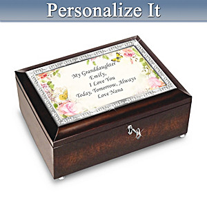 Music Box For Granddaughter Personalized With Your 2 Names