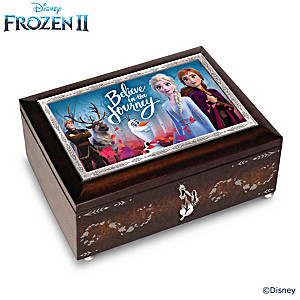 Disney FROZEN 2 Mahogany-Finished Heirloom Music Box