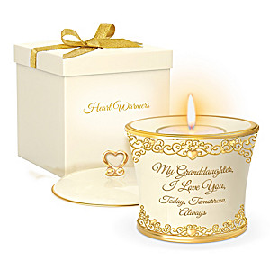 """My Granddaughter, I Love You Forever"" Candleholder Gift Set"