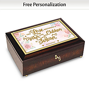 """A Mother's Love Is Forever"" Music Box With Children's Names"