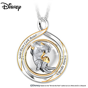 "Disney Eeyore ""Some Days …"" 2-in-1 Flip Necklace"