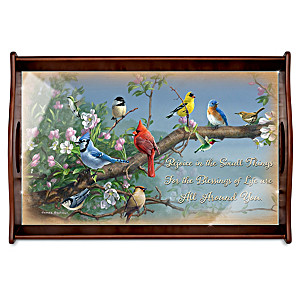 "James Hautman ""Beautiful Blessings"" Wooden Serving Tray"