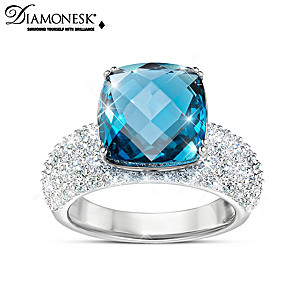 """""""Sky's The Limit"""" Simulated Diamond Ring With Over 12 Carats"""