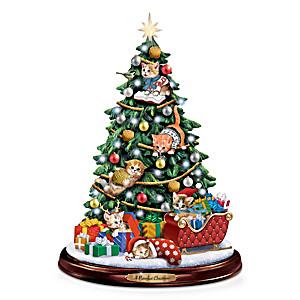 Jürgen Scholz Illuminated Kitten Christmas Tree