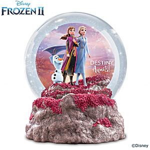 "Disney FROZEN 2 ""Destiny Awaits"" Illuminated Glitter Globe"