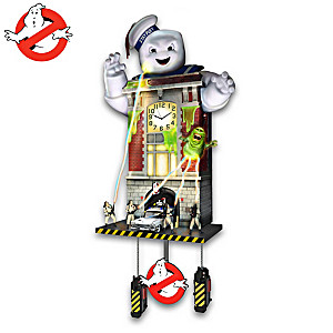 Ghostbusters Wall Clock Lights Up And Plays Sounds Each Hour
