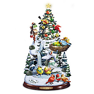 Illuminated Musical Christmas Tree With Songbirds