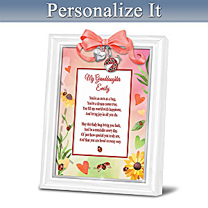 Granddaughter, You're Cute As A Bug Personalized Framed Poem