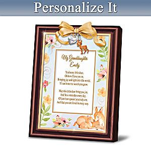 Granddaughter You're My Little Deer Personalized Framed Poem