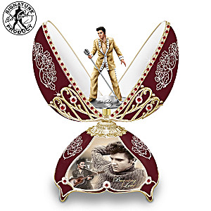 """Elvis In Concert"" Peter Carl Faberge-Style Egg Music Box"