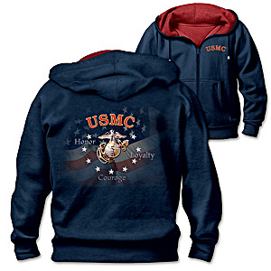 """USMC Pride"" Reversible Men's Hoodie"