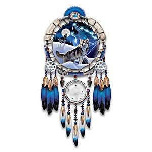 Al Agnew Wolf Art Illuminated Masterpiece Dreamcatcher
