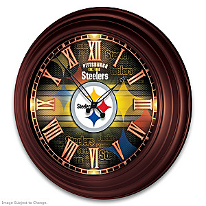 Pittsburgh Steelers Illuminated Atomic Wall Clock