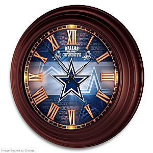 Dallas Cowboys Illuminated Atomic Wall Clock
