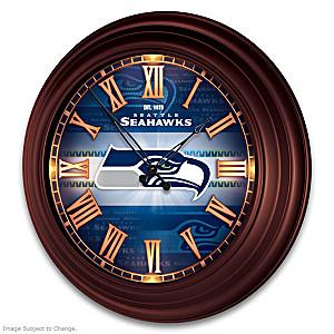 Seattle Seahawks Illuminated Atomic Wall Clock