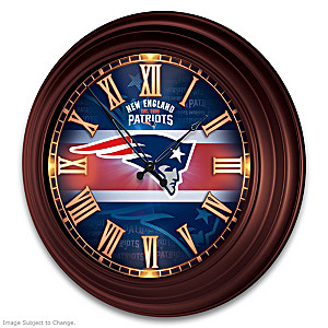 New England Patriots Illuminated Atomic Wall Clock