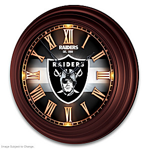 Las Vegas Raiders Illuminated Atomic Wall Clock