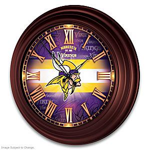 Minnesota Vikings Illuminated Atomic Wall Clock