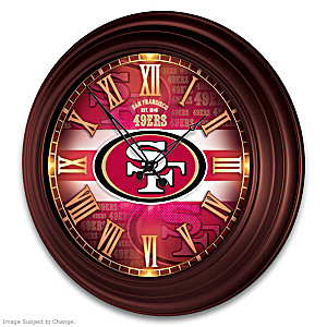San Francisco 49ers Illuminated Atomic Wall Clock