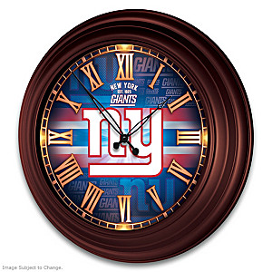 New York Giants Illuminated Atomic Wall Clock