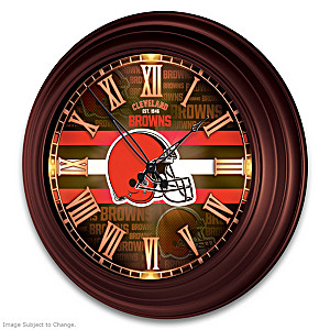 Cleveland Browns Illuminated Atomic Wall Clock