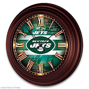 New York Jets Illuminated Atomic Wall Clock