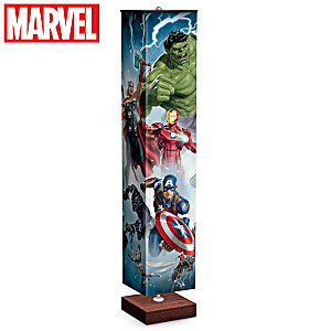 MARVEL Avengers Floor Lamp With Comic Heroes On 4 Sides