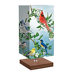 "James Hautman ""Treetop Friends"" Songbird Art Table Lamp"