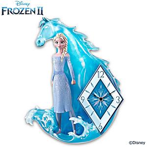 Disney FROZEN 2 Wall Clock With Sculpted Elsa Figure