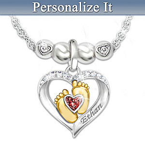 Personalized Family Birthstone Necklace And Add-On Charms