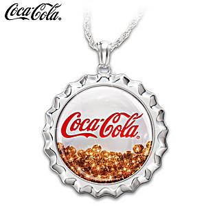 """COCA-COLA """"Pop 'N Fizz"""" Necklace With Swarovski Crystals"""