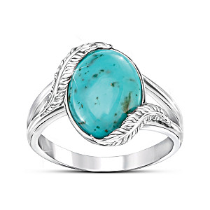 """""""Sedona Canyon"""" Turquoise Ring With Over 5.5 Carats"""