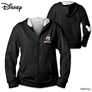 Disney Mickey Mouse And Minnie Mouse Velour-Lined Hoodie