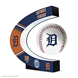 Detroit Tigers Levitating Baseball Lights Up And Spins