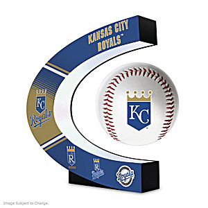 Kansas City Royals Levitating Baseball Lights Up And Spins