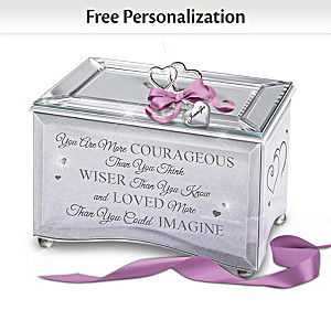 Music Box For Granddaugher With Personalized Charm