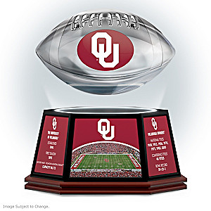 Sooners Levitating Football Lights Up And Spins