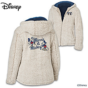 "Disney ""Cuddled With Love"" Women's Lightweight Sherpa Jacket"