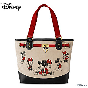 Disney Mickey Mouse And Minnie Mouse Canvas Tote Bag