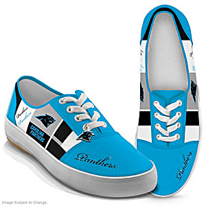 NFL-Licensed Carolina Panthers Women's Patchwork Sneakers