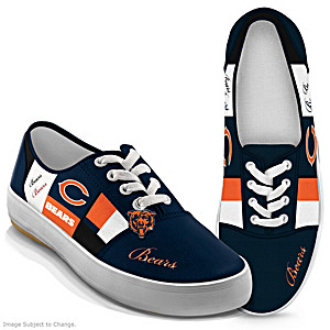 NFL-Licensed Chicago Bears Women's Patchwork Sneakers